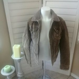 Aeropostale sheep lined corduroy coat Sz L